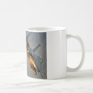 FIGHTER JET RELEASES HOT FLARES COFFEE MUG