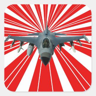 Fighter Jet Square Sticker