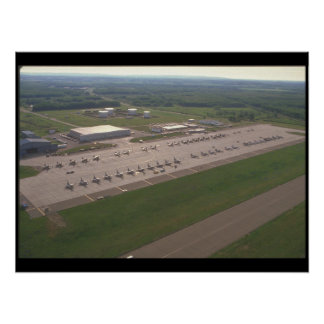 Fighter jets on ramp ready_Military Aircraft Poster