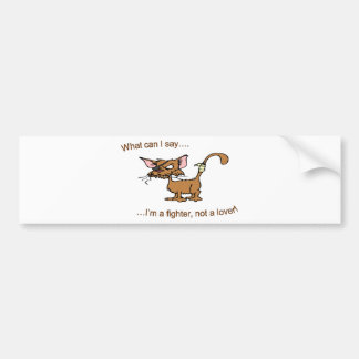 Fighter Not Lover Bumper Sticker