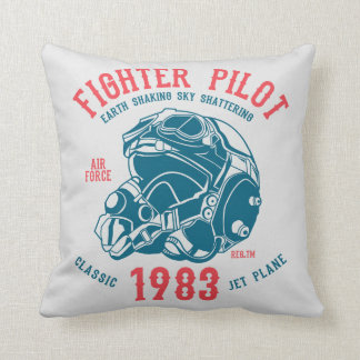 Fighter Pilot Classic Jet Plane Throw Pillow