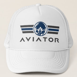 Fighter Pilot Helmet and Mask Trucker Hat
