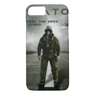 Fighter Pilot on Runway iPhone 7 Case