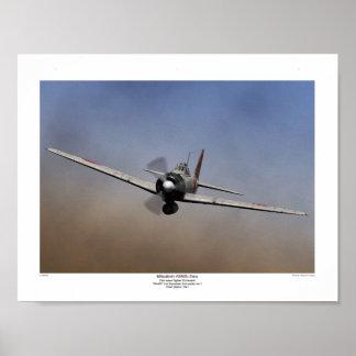 Fighter plane 3Ring on Mitsubishi zero type Poster