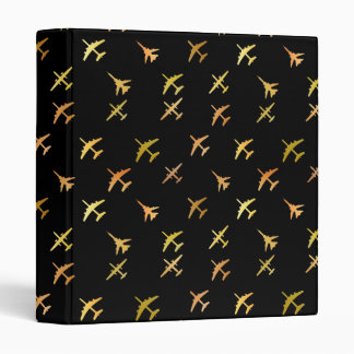 Fighter planes, on black binder