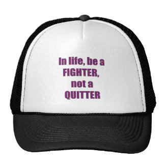 FIGHTER Quitter Quote Wisdom TEMPLATE Resellers Mesh Hat