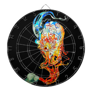 fighter tiger dartboard with darts