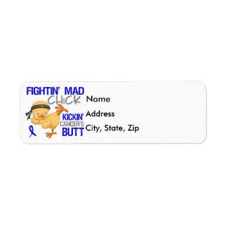 Fightin Chick Anal Cancer Return Address Label