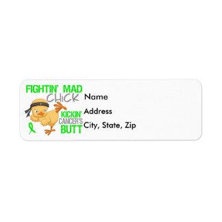 Fightin Chick General Lymphoma Return Address Label