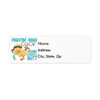 Fightin' Mad Chick Ovarian Cancer Return Address Label