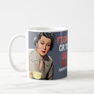 fighting, crying, guilt, booze. happy holidays coffee mug