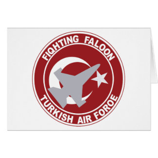 Fighting Faloon Turkish Air Force Military Patch Card