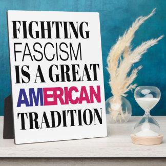 Fighting Fascism - 8x10 Display Plaque