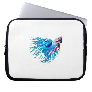 fighting fish laptop sleeves