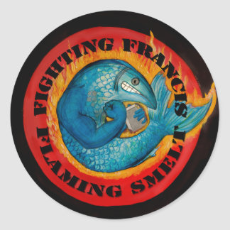 Fighting Francis Round Sticker