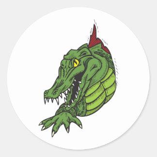 Fighting Gator Round Sticker