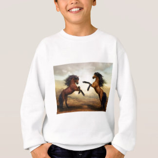 Fighting horses sweatshirt