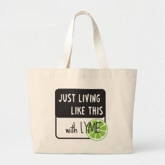 Fighting LYME disease Large Tote Bag
