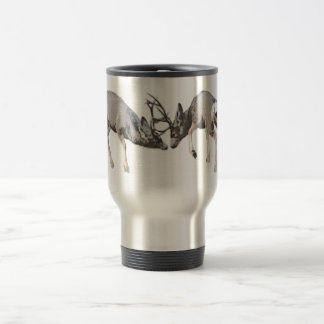 Fighting Mule Deer customize Travel Mug