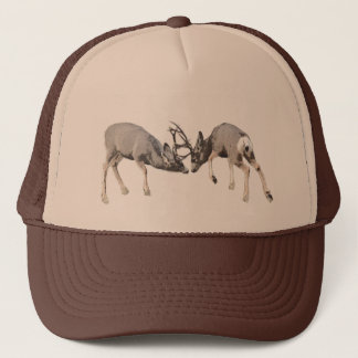 Fighting mule deer customize trucker hat