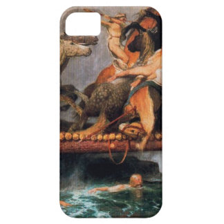 Fighting on a bridge by Arnold Böcklin iPhone 5 Cover