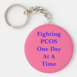 Fighting PCOS One Day At A Time Keychain