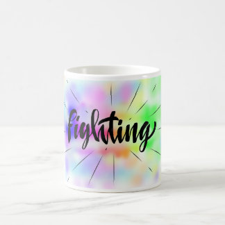 fighting rainbow coffee mug