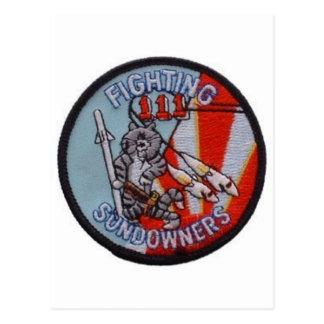 FIGHTING SUNDOWNERS VF-111 POSTCARD