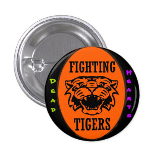 Fighting Tigers Button - Dead Hearts Novels