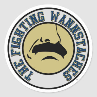 Fighting Wannstaches Small Stickers