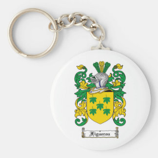 FIGUEROA FAMILY CREST -  FIGUEROA COAT OF ARMS KEYCHAIN