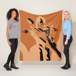 Figurative Abstract Expressionism Stylish Blanket