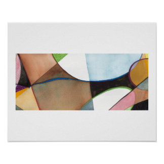 "Figure Abstract Painting - ""Earthly Figure"" Poster"