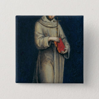 Figure of a Franciscan Monk 2 Inch Square Button