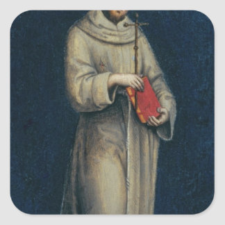 Figure of a Franciscan Monk Square Sticker