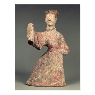 Figure of a male dancer, tomb artefact postcard