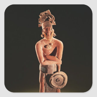 Figure of a warrior with a shield square sticker