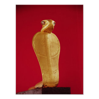 Figure of the cobra Netjer-Ankh Poster