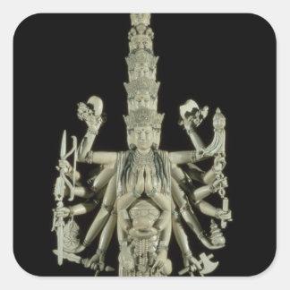 Figure of the Hindu Goddess Kali Square Sticker