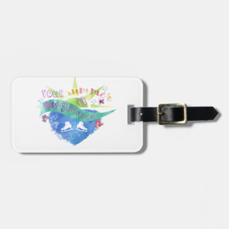 Figure Skate Design Luggage Tag