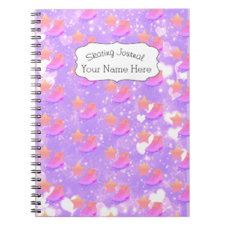 Figure Skate Notebook Journal Sporty Pink