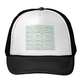 Figure Skate Sketch Art Mint Green Giftware Trucker Hat