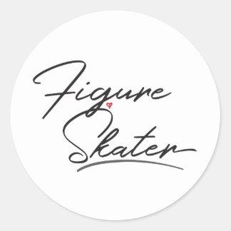 Figure Skater Classic Round Sticker
