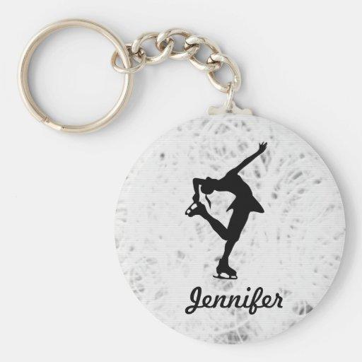 Figure Skater Girl & Name Key Chain (ice)
