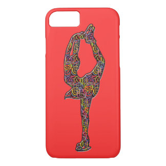 Figure Skater iphone case Swirly Colors Coral