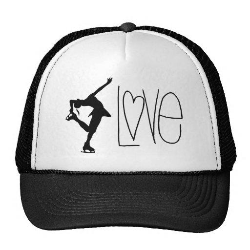 Figure Skater Love Trucker Hats