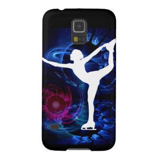 Figure Skater on Technicolor Ice Galaxy S5 Cases