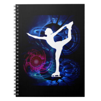 Figure Skater on Technicolor Ice Notebooks