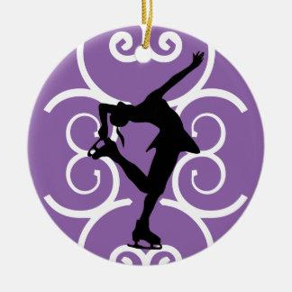 Figure Skater Ornament - Purple - personalize it