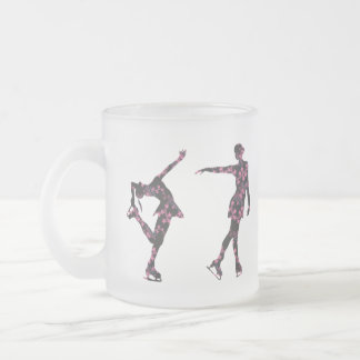 Figure Skater Pattern Frosted Mug